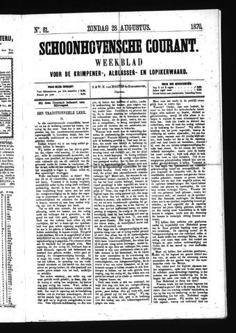 Schoonhovensche Courant 1870-08-28
