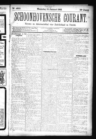Schoonhovensche Courant 1921-01-24