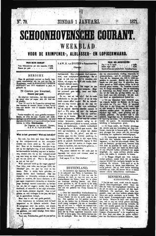 Schoonhovensche Courant 1871-01-01
