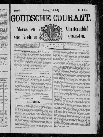Goudsche Courant 1863-07-26
