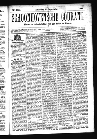 Schoonhovensche Courant 1898-09-17