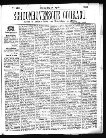 Schoonhovensche Courant 1906-04-18