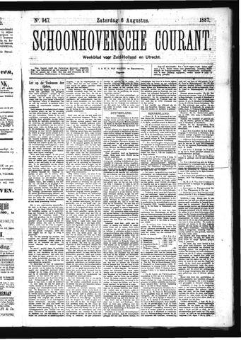 Schoonhovensche Courant 1887-08-06
