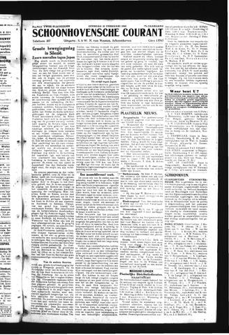 Schoonhovensche Courant 1945-02-20