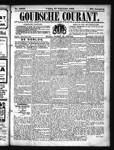 Goudsche Courant 1918-09-27