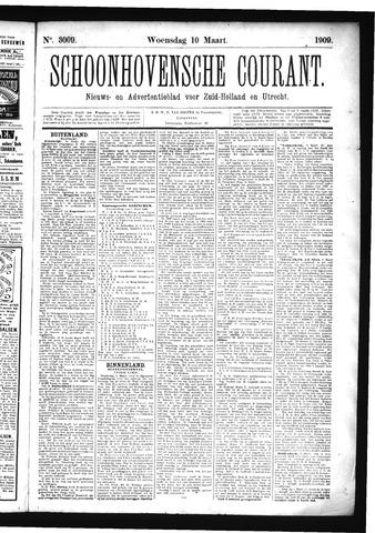 Schoonhovensche Courant 1909-03-10