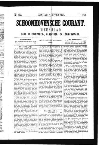 Schoonhovensche Courant 1871-11-05