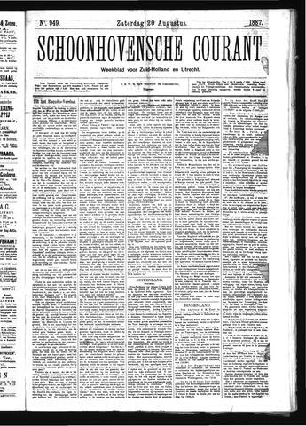 Schoonhovensche Courant 1887-08-20