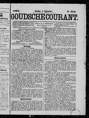 Goudsche Courant 1865-09-03