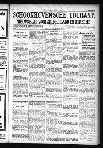 Schoonhovensche Courant 1927-03-14