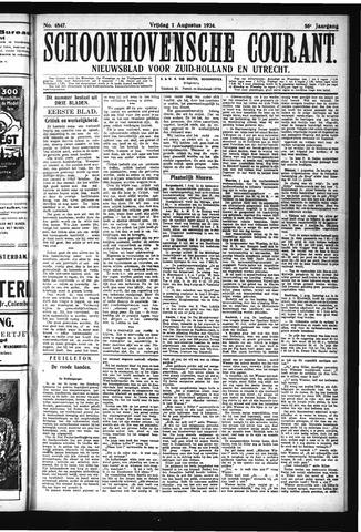 Schoonhovensche Courant 1924-08-01