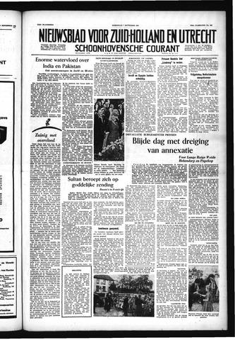 Schoonhovensche Courant 1955-09-07