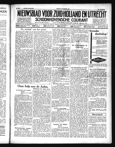 Schoonhovensche Courant 1938-11-18