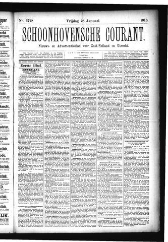 Schoonhovensche Courant 1916-01-28