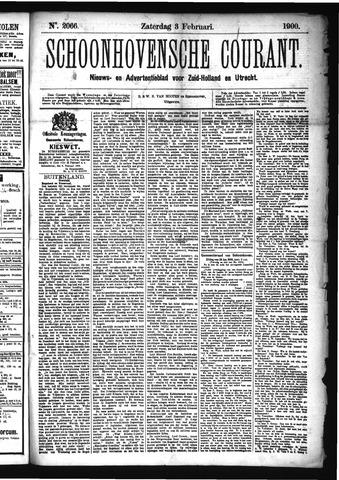 Schoonhovensche Courant 1900-02-03