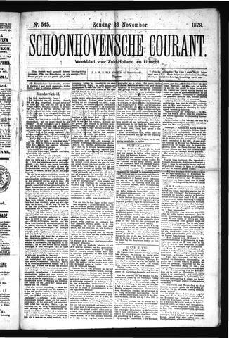 Schoonhovensche Courant 1879-11-23