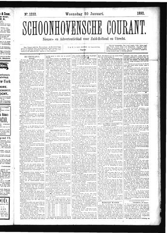 Schoonhovensche Courant 1892-01-20