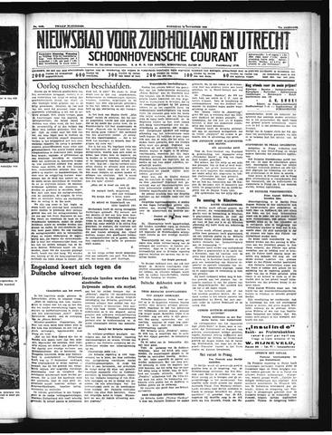Schoonhovensche Courant 1939-11-22