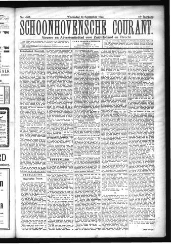 Schoonhovensche Courant 1922-09-13