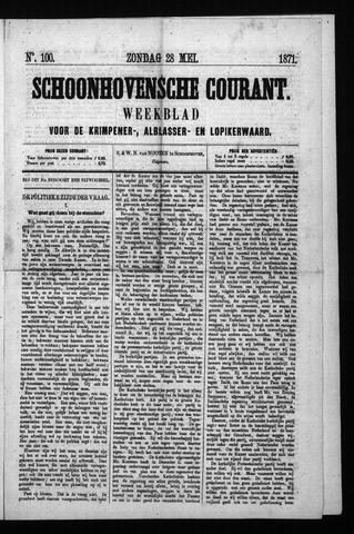 Schoonhovensche Courant 1871-05-28