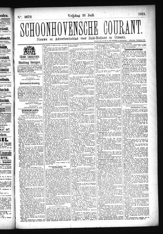 Schoonhovensche Courant 1915-07-16