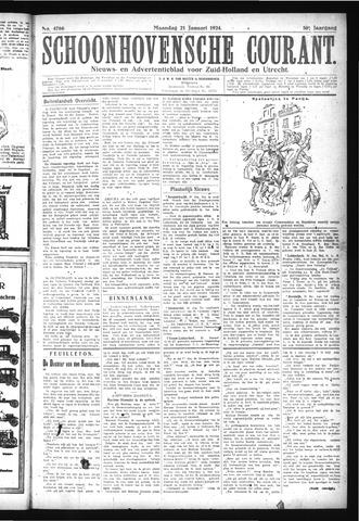 Schoonhovensche Courant 1924-01-21