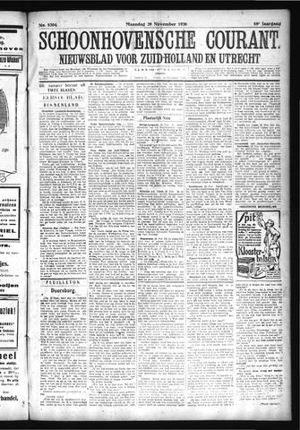 Schoonhovensche Courant 1926-11-29