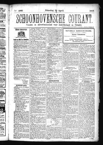 Schoonhovensche Courant 1919-04-15