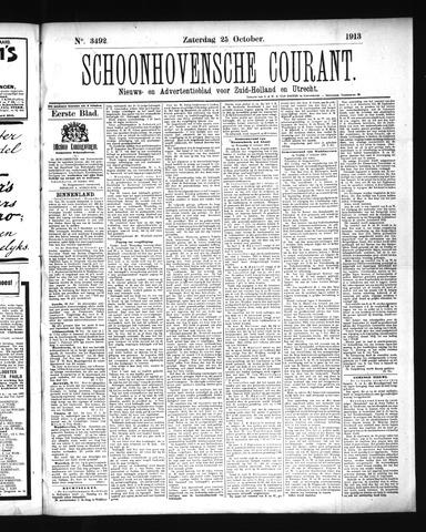 Schoonhovensche Courant 1913-10-25