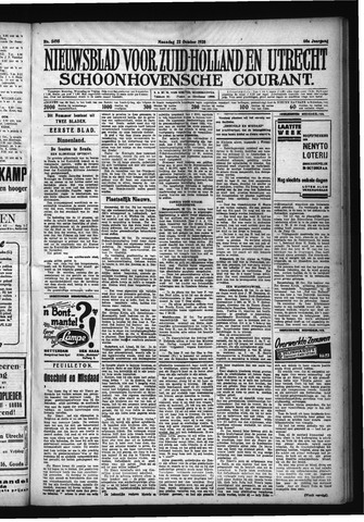 Schoonhovensche Courant 1928-10-22