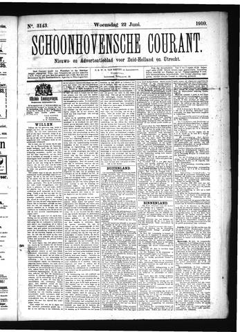 Schoonhovensche Courant 1910-06-22