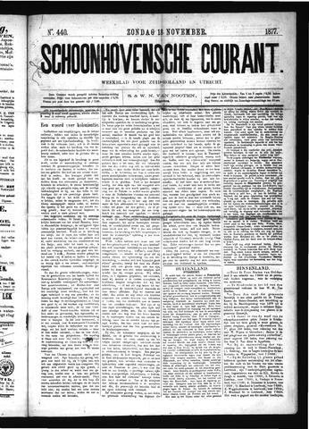 Schoonhovensche Courant 1877-11-18