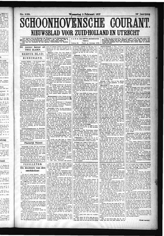 Schoonhovensche Courant 1927-02-02