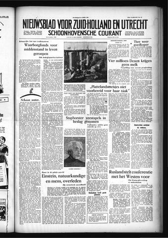 Schoonhovensche Courant 1955-04-20