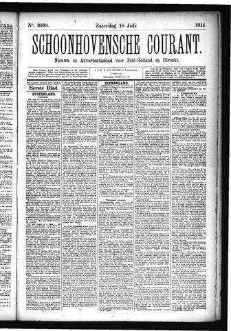 Schoonhovensche Courant 1914-07-18