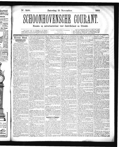 Schoonhovensche Courant 1913-11-15