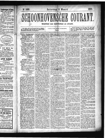 Schoonhovensche Courant 1890-03-08