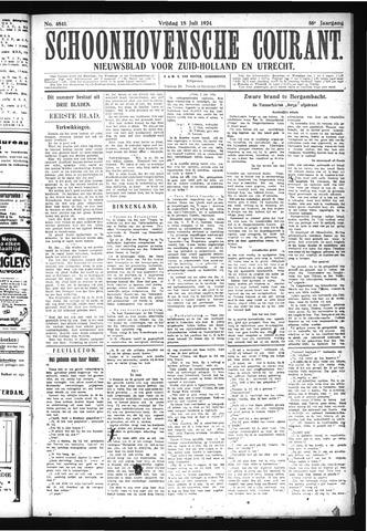 Schoonhovensche Courant 1924-07-18
