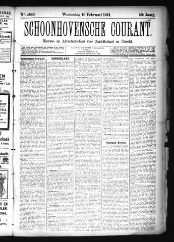 Schoonhovensche Courant 1921-02-16