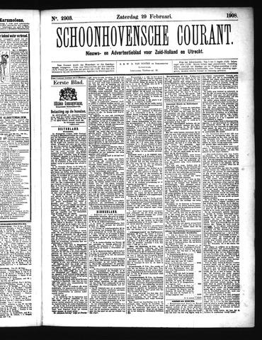Schoonhovensche Courant 1908-02-29