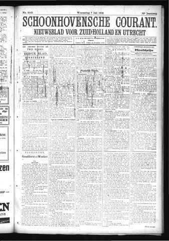Schoonhovensche Courant 1926-07-07