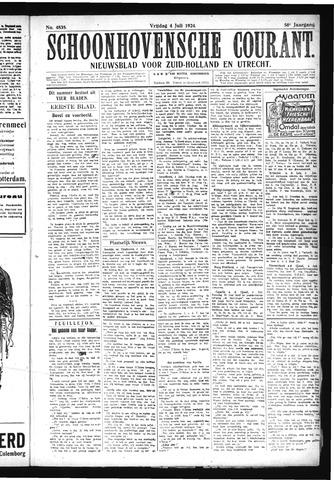Schoonhovensche Courant 1924-07-04