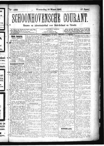 Schoonhovensche Courant 1921-03-16