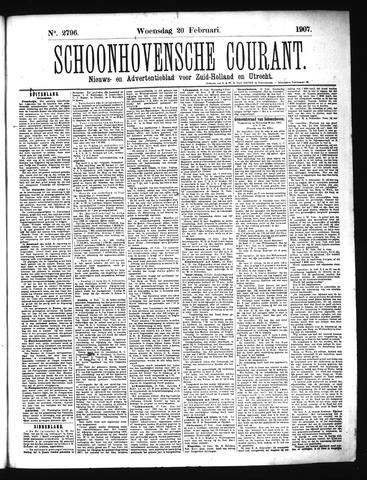 Schoonhovensche Courant 1907-02-20