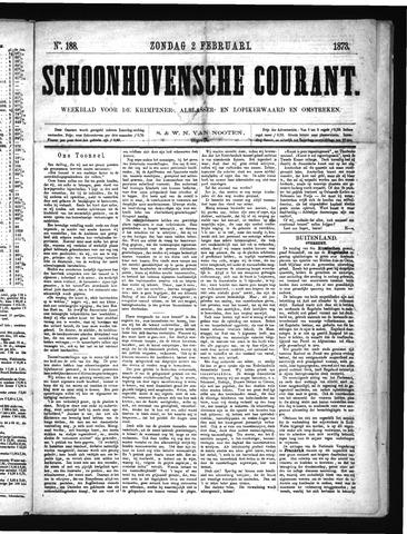 Schoonhovensche Courant 1873-02-02