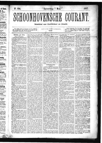 Schoonhovensche Courant 1887-05-07