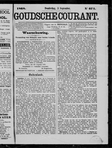 Goudsche Courant 1868-09-03