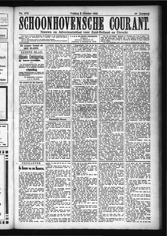 Schoonhovensche Courant 1923-10-05