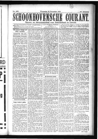 Schoonhovensche Courant 1922-11-29
