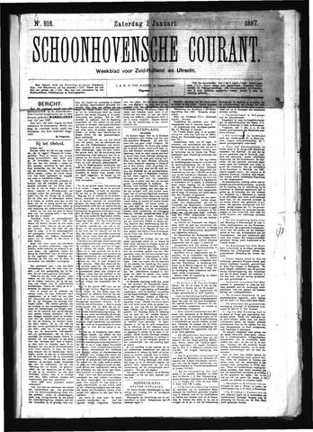 Schoonhovensche Courant 1887-01-01
